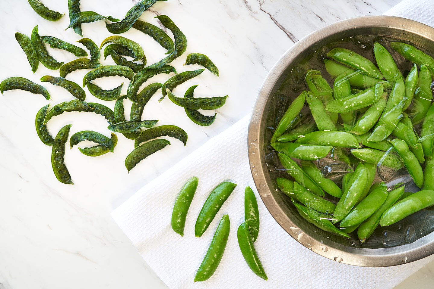 dried sugar snap peas