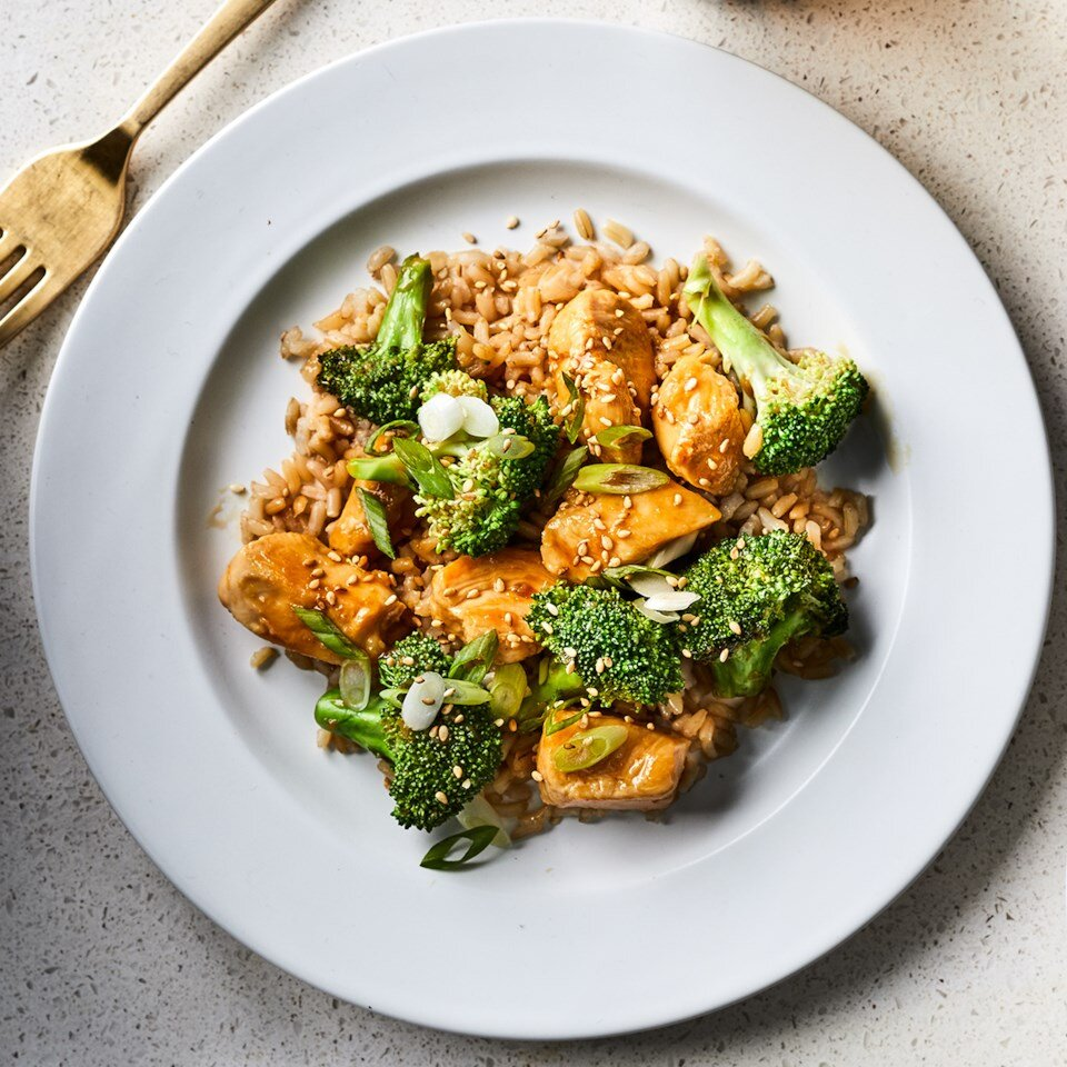 Teriyaki Chicken with Broccoli recipe on a plate