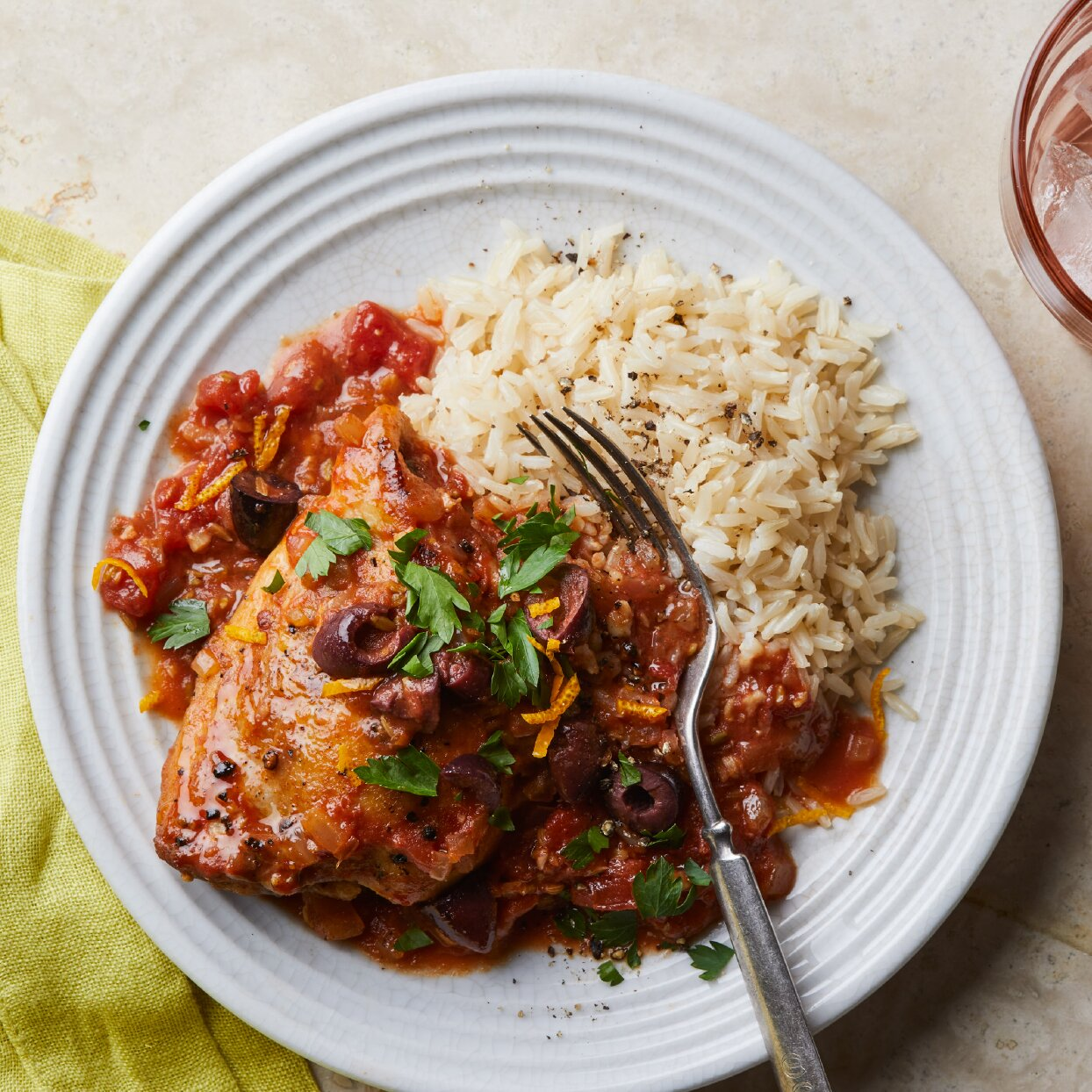 Braised Chicken Thighs with Fennel, Orange & Olives recipe