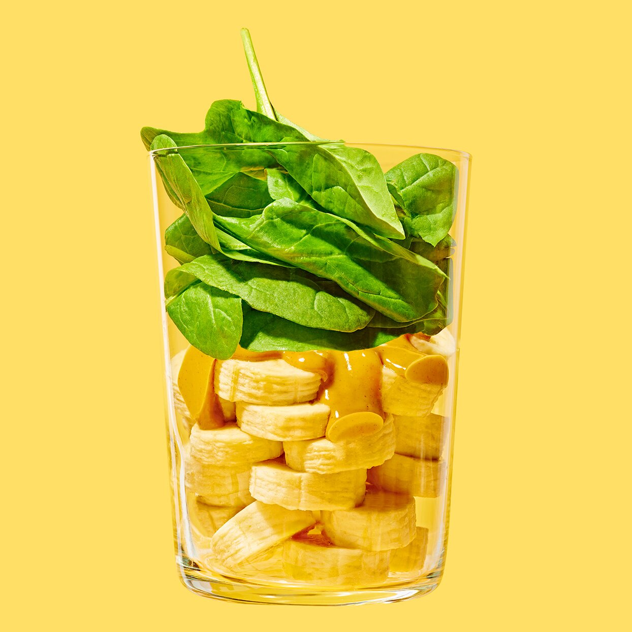 Spinach, Peanut Butter Banana Smoothie