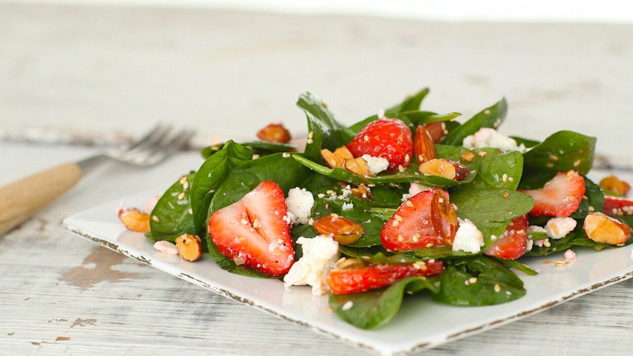 Strawberry Spinach Salad Recipe Martha Stewart