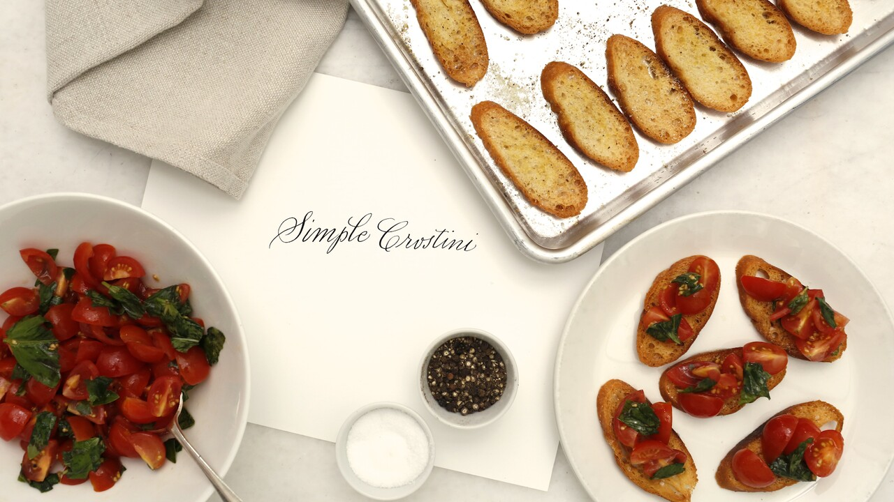 Simple Crostini Recipe Martha Stewart