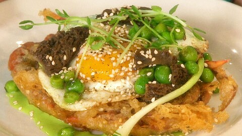 Crispy Soft Shell Crabs With Pistou And Soft Fried Eggs Martha Stewart
