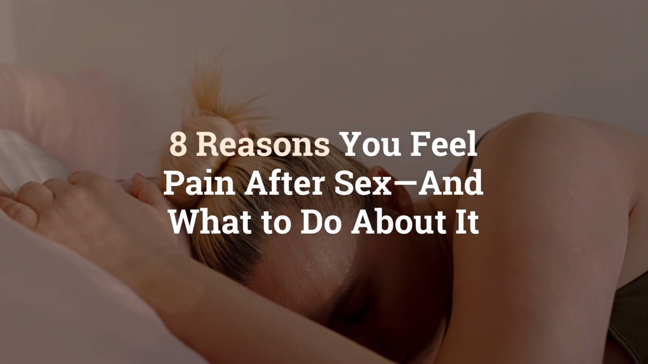 Legs hurt during sex