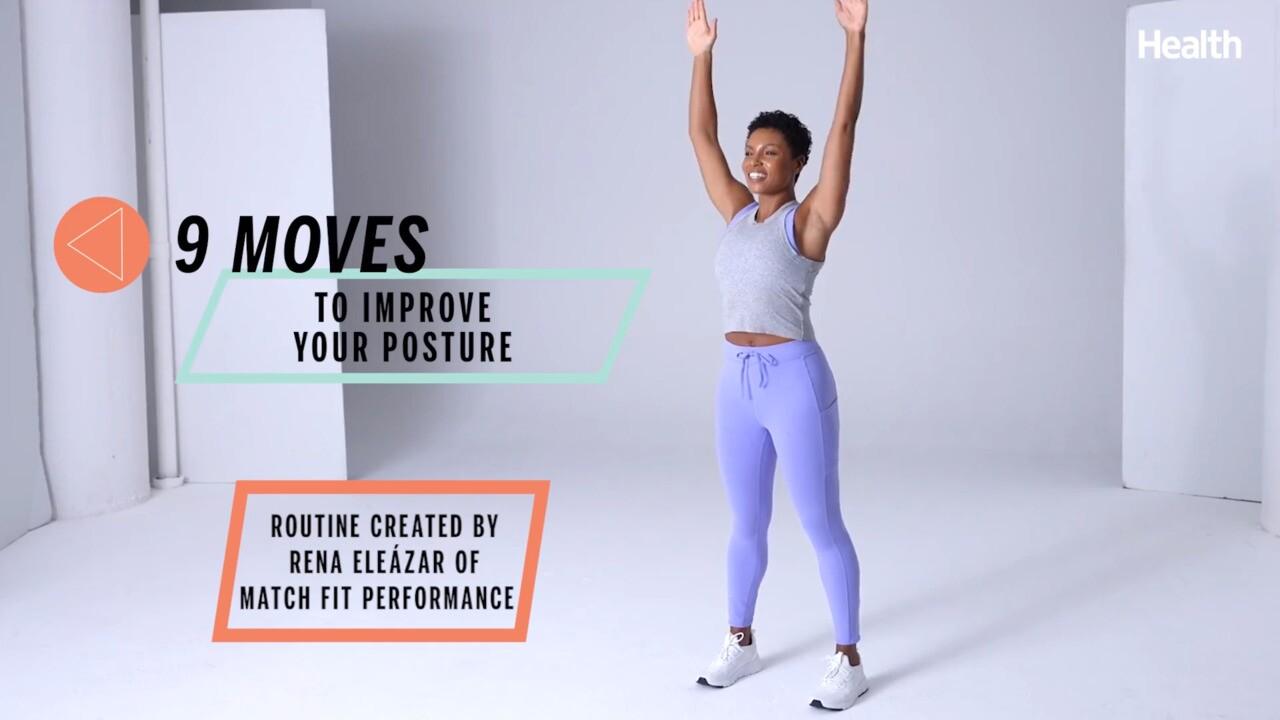 这个八个动作技能锻炼身体,又能缓解疲劳