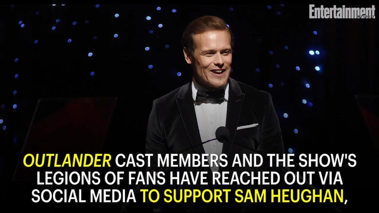 Outlander Cast Defends Sam Heughan After He Reveals Online Abuse Ew Com
