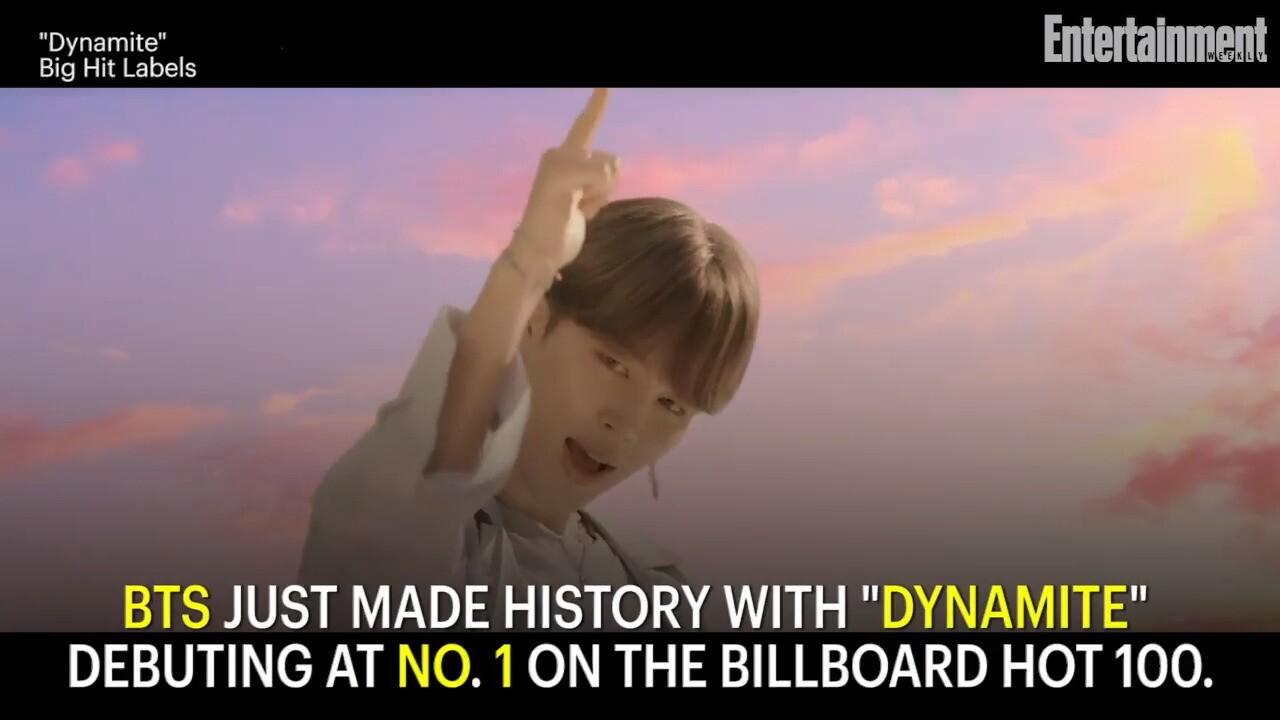 Bts Dynamite Debuts No 1 On Billboard 100 Ew Com
