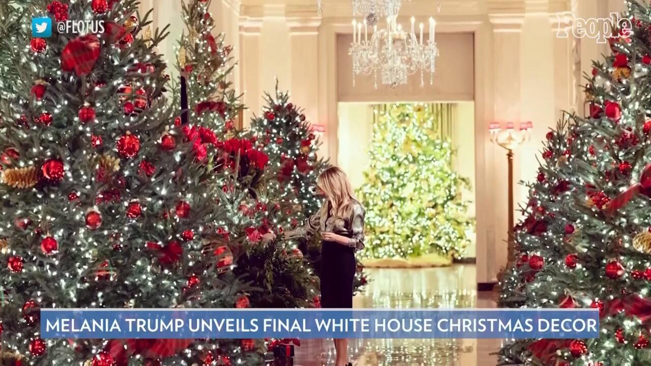 Whitehouse Christmas Images 2021 Melania Trump Unveils Final White House Christmas Decor Theme People Com
