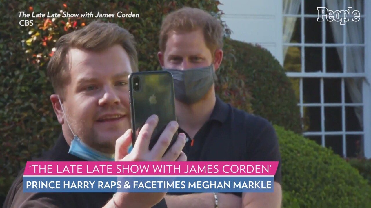 Meghan Markle Wore a $30 Dress During James Corden FaceTime Call |  PEOPLE.com