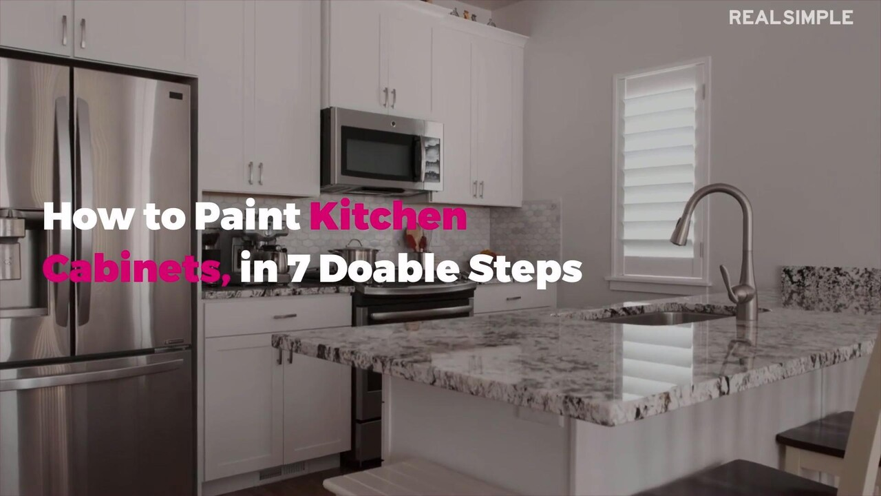 How To Paint Kitchen Cabinets 7 Step Guide Real Simple
