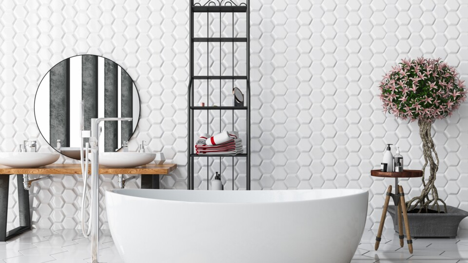 Accent Walls Are In The 8 Best Bathroom Trends To Try In 2020 Better Homes Gardens