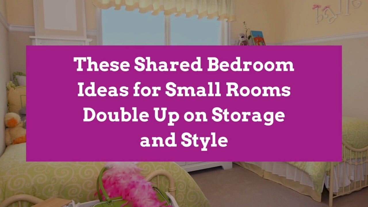 These Shared Bedroom Ideas for Small Rooms Double Up on Storage