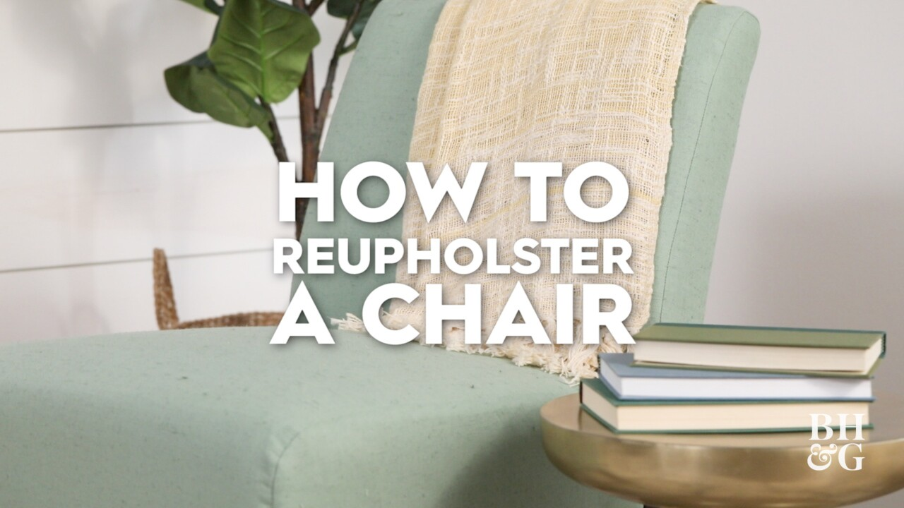 How To Reupholster A Chair Better