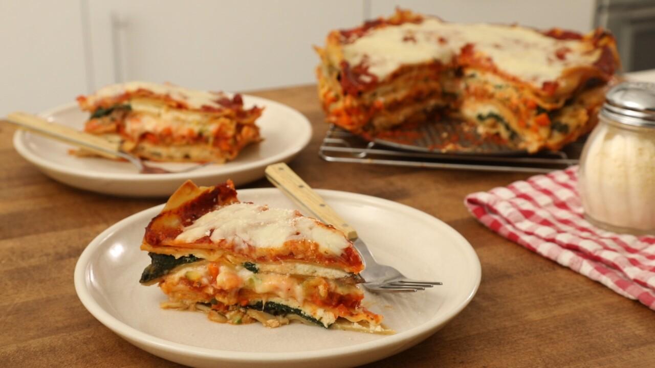 Mile High Meatless Lasagna Pie Better Homes Gardens