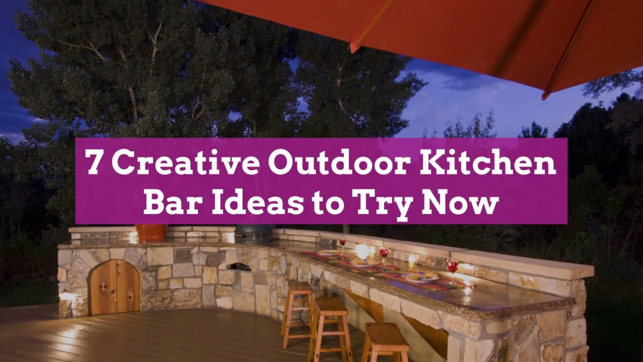7 Creative Outdoor Kitchen Bar Ideas To Try Now Better Homes Gardens