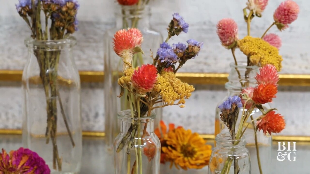 How To Create Beautiful Dried Flowers Better Homes Gardens