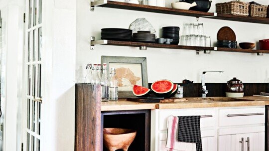 How To Go From Kitchen Cabinets Open Shelving Martha Stewart