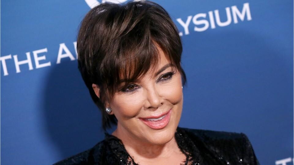 See Kris Jenner S Long Hair And Curtain Bangs Instyle