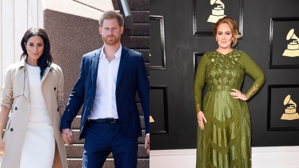 meghan markle and prince harry are reportedly friends with adele instyle are meghan markle and prince harry now friends with adele