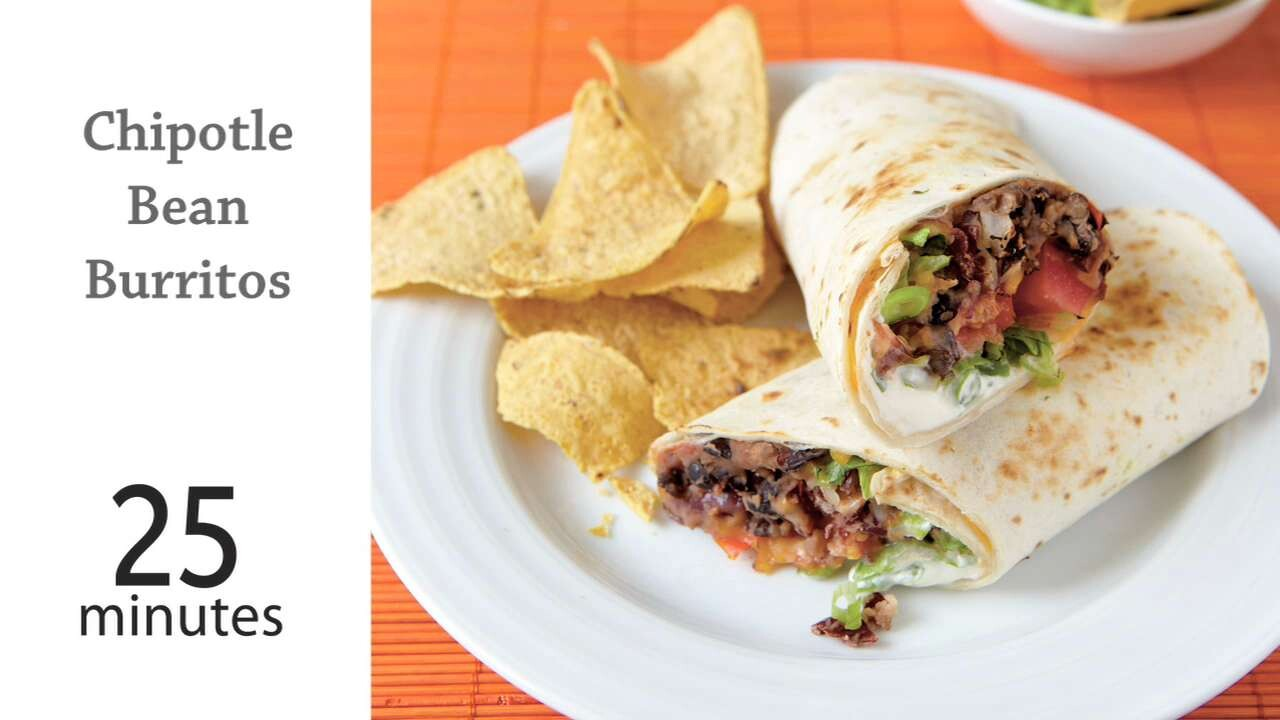 Chipotle Bean Burritos Recipe Myrecipes
