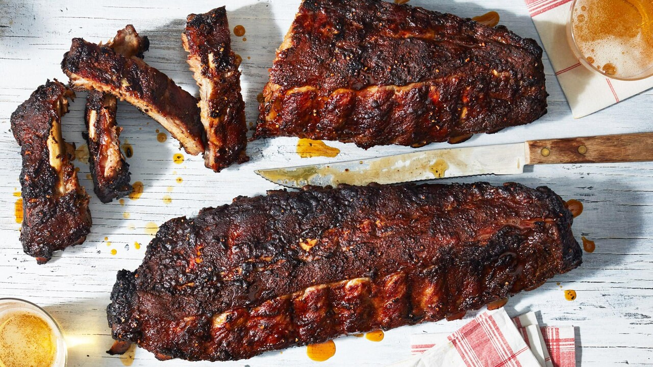 The Best Grilled Ribs Recipe Myrecipes