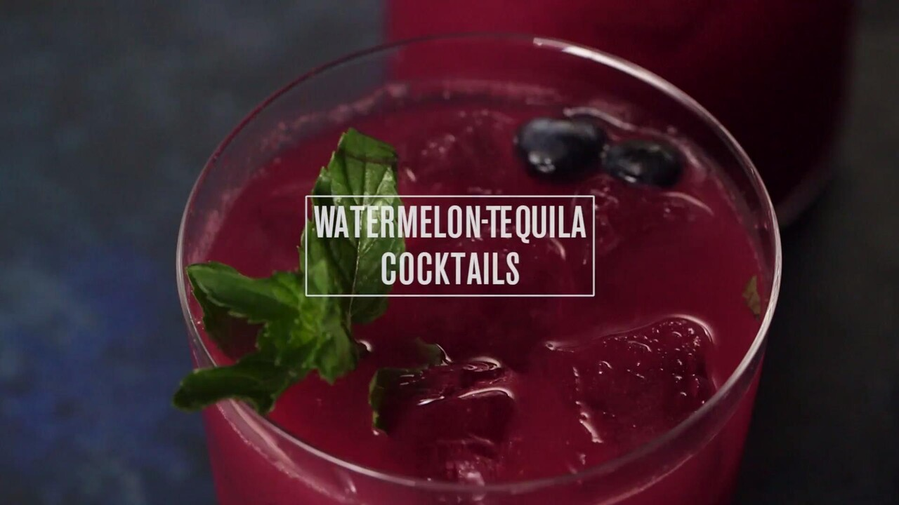 Watermelon Tequila Cocktails Recipe Bobby Flay Food Wine