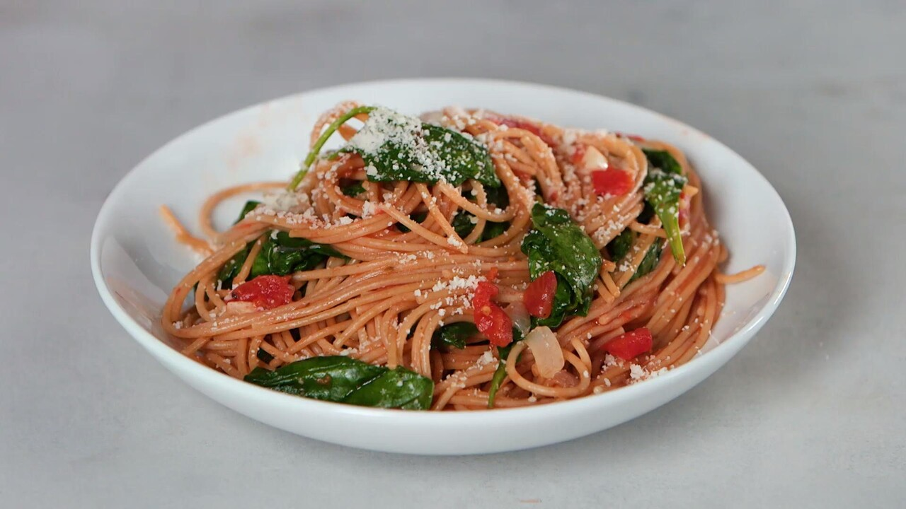 One Pot Pasta With Spinach And Tomatoes Cooking Light