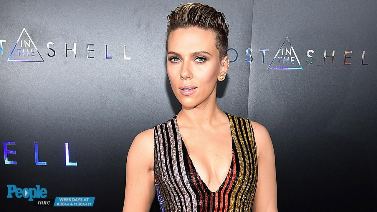 Scarlett Johansson In Balmain At Ghost In The Shell N Y C Premiere People Com