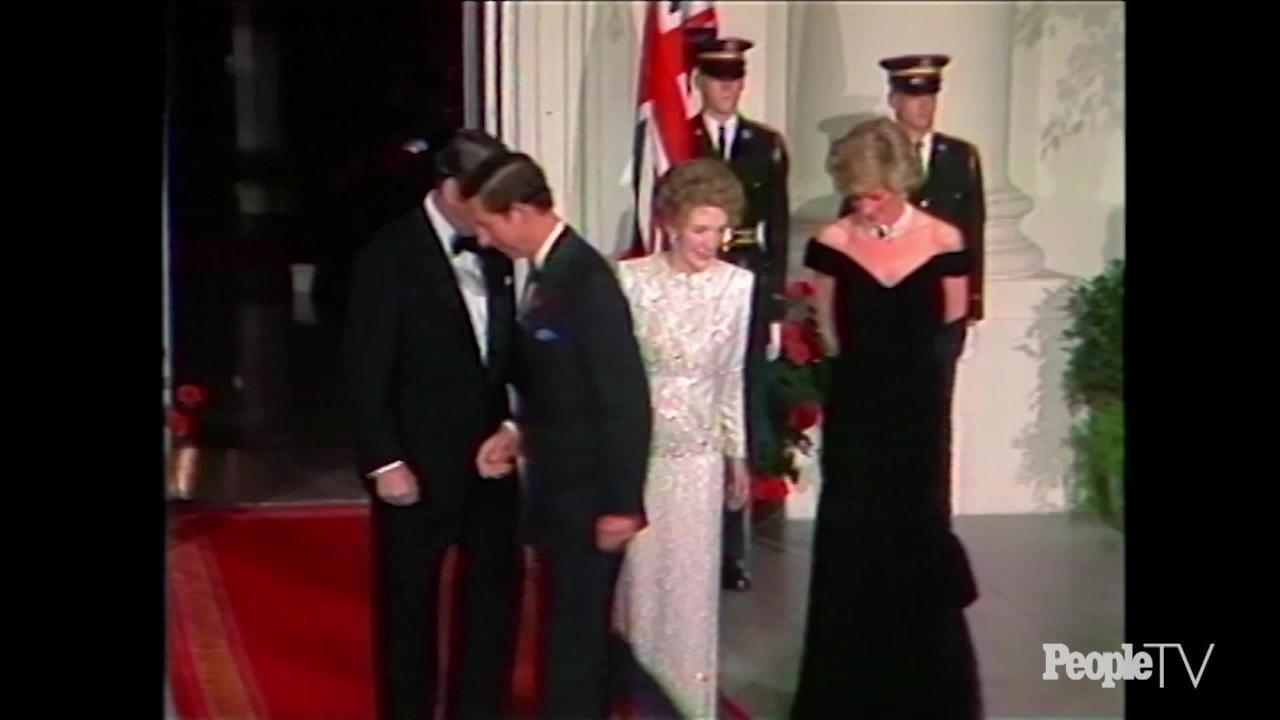 princess diana s john travolta dress for sale people com the diana diaries princess diana prince charles make their first trip to united states