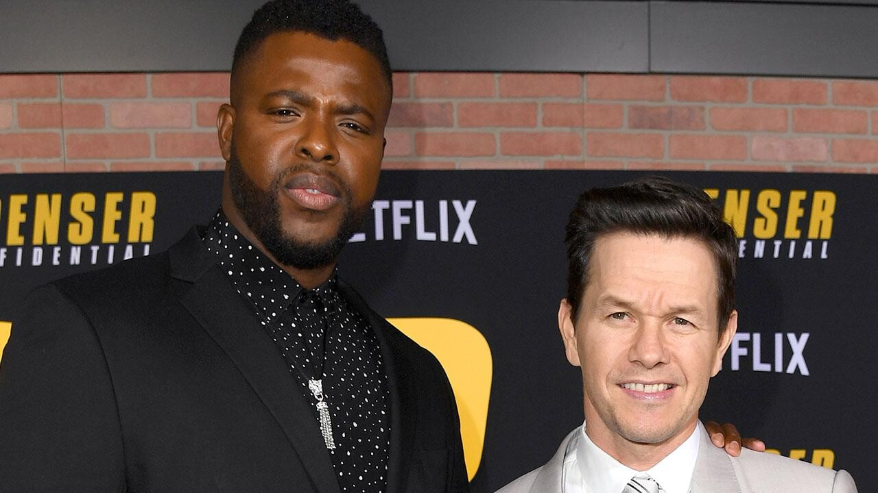 Actors Mark Wahlberg And Winston Duke Talk About Filming New Film Spenser Confidential People Com