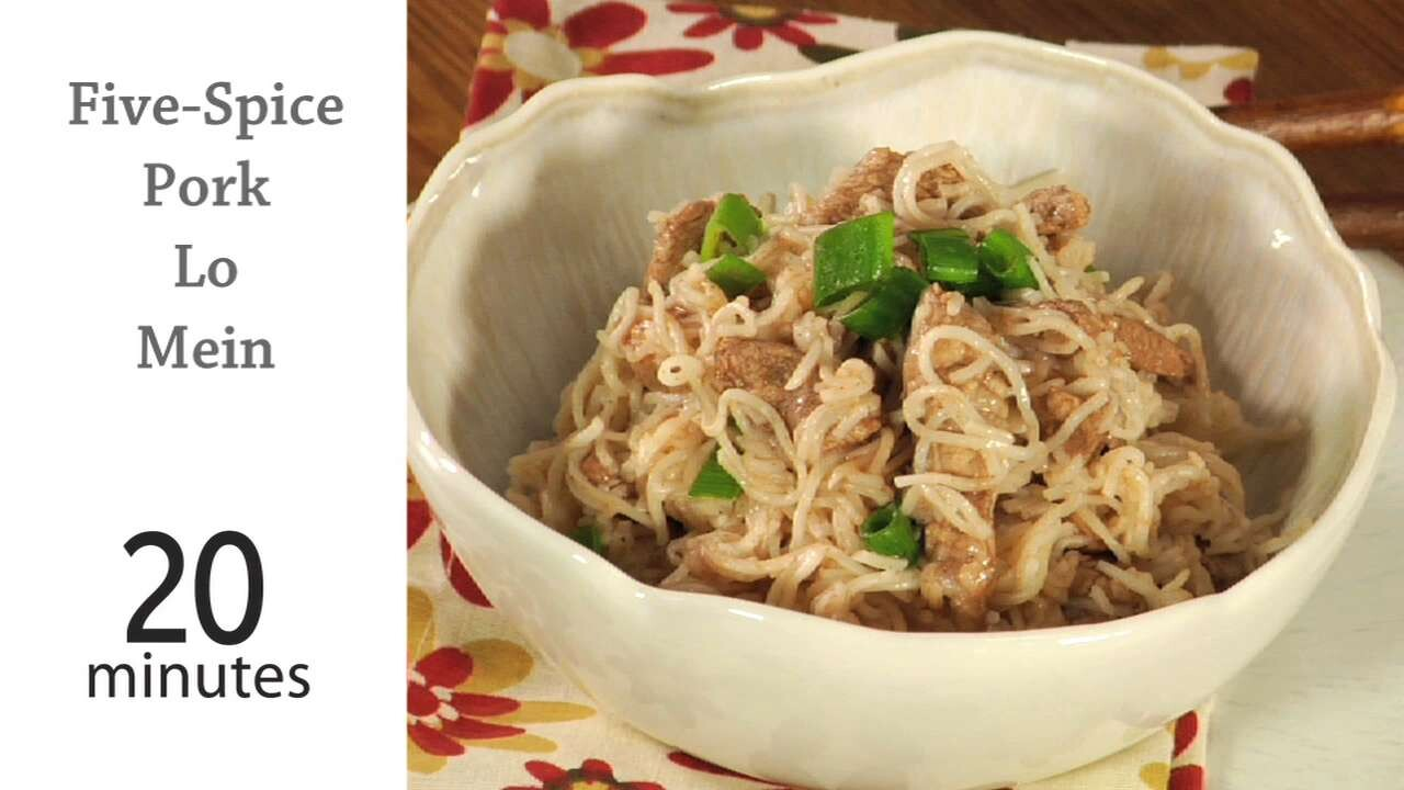 How To Cook Five Spice Pork Lo Mein Myrecipes