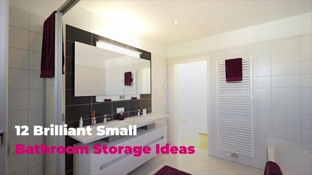 12 Brilliant Small Bathroom Storage Ideas Real Simple