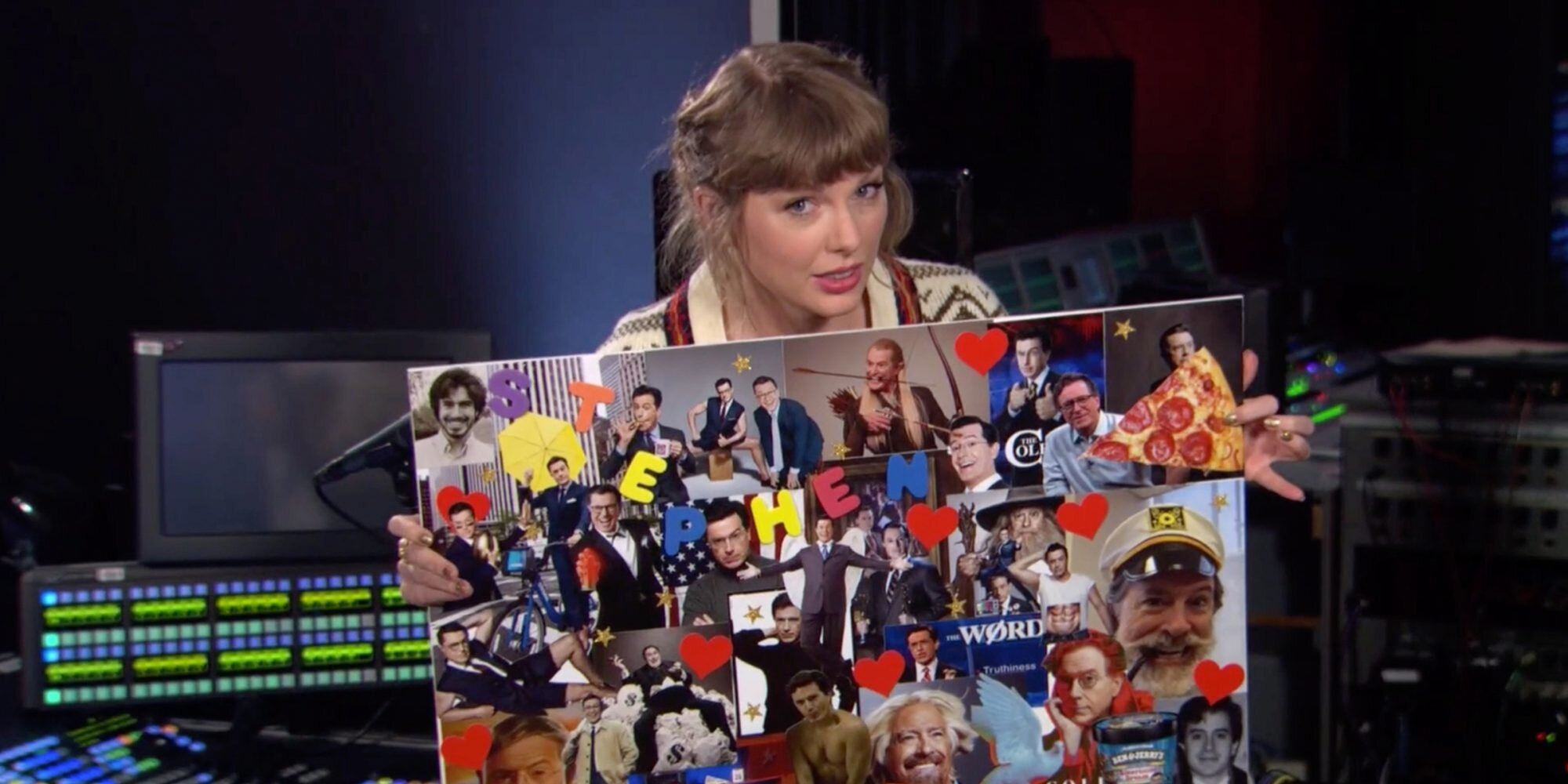 Taylor Swift Shows Off Stephen Colbert 'Mood Board' to Clarify Song 'Hey Stephen' Isn't About Him.jpg