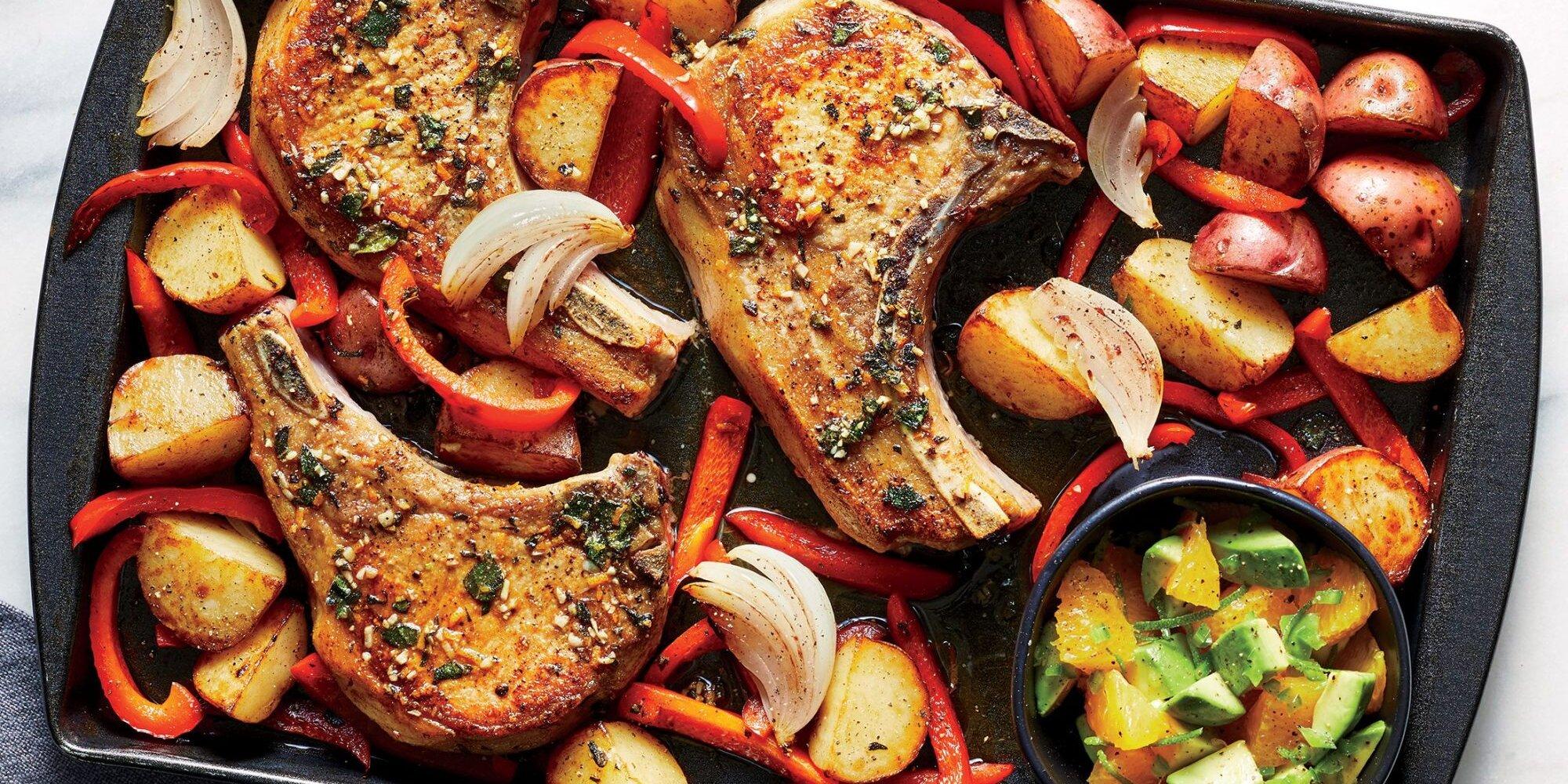 Pork Chops with Orange-Avocado Salsa Recipe | Cooking Light