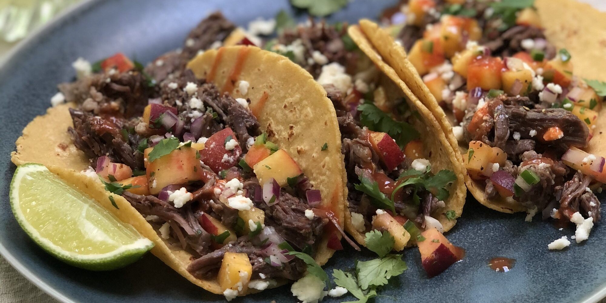 Instant Pot Short Rib Tacos With Peach Salsa Recipe