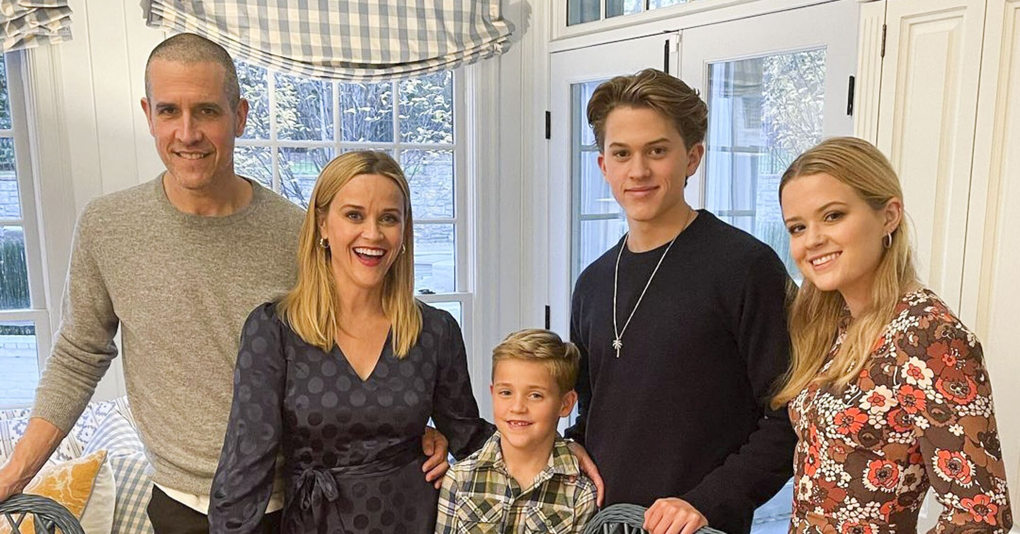 Reese Witherspoon Shares Family Thanksgiving Photo as She Says Thanks Frontline Workers