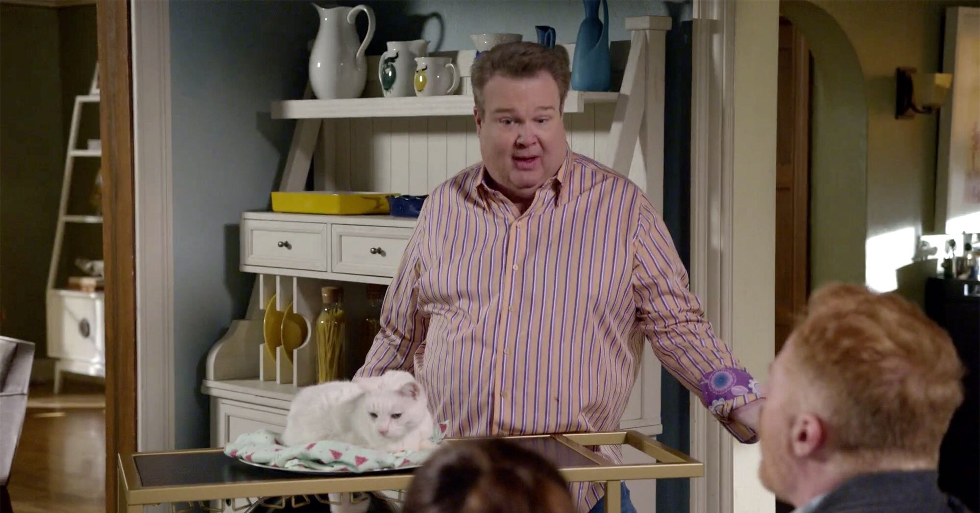 <em>Modern Family</em> first look: Watch Cam try to top <em>Lion King</em> entrance for adopted son