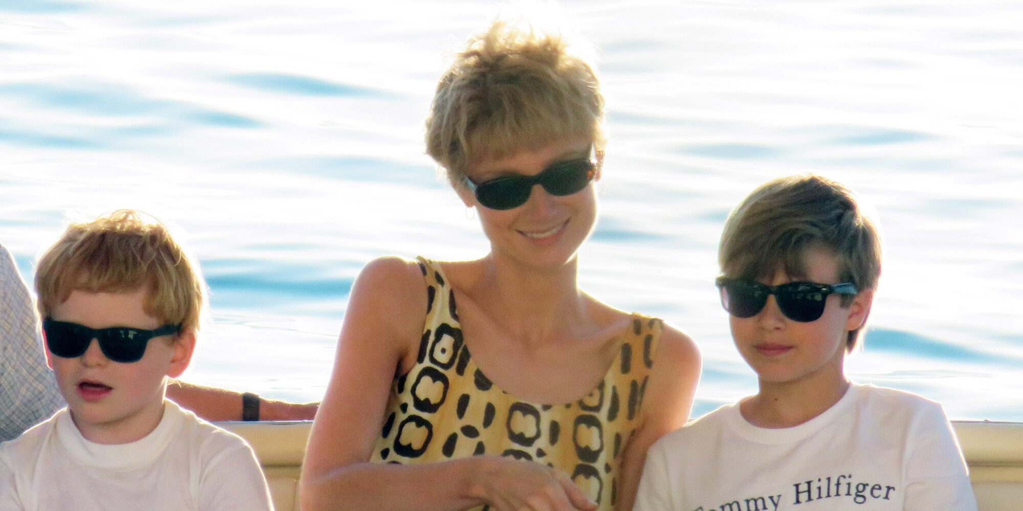 The Crown's Princess Diana Makes a Splash in a Bold Print While Filming on a Yacht in Mallorca