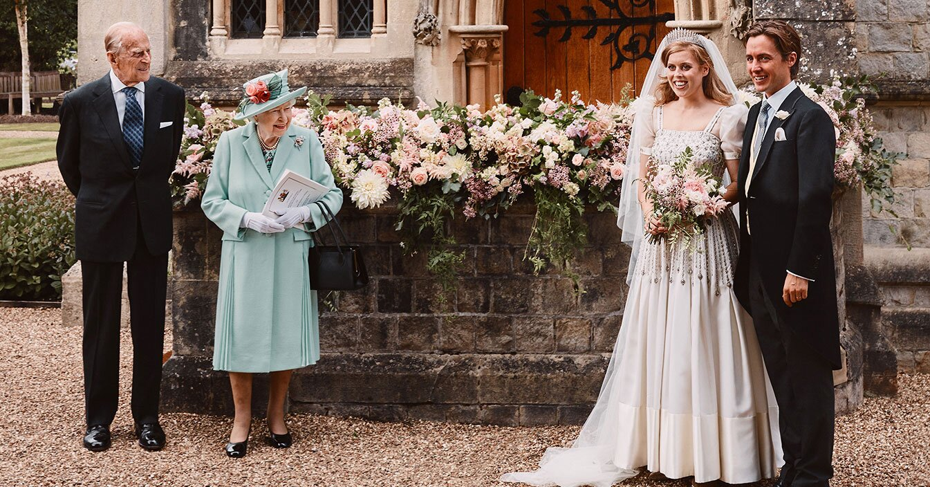 Princess Beatrice Wore Hand Me Down Wedding Dress From Queen Elizabeth People Com