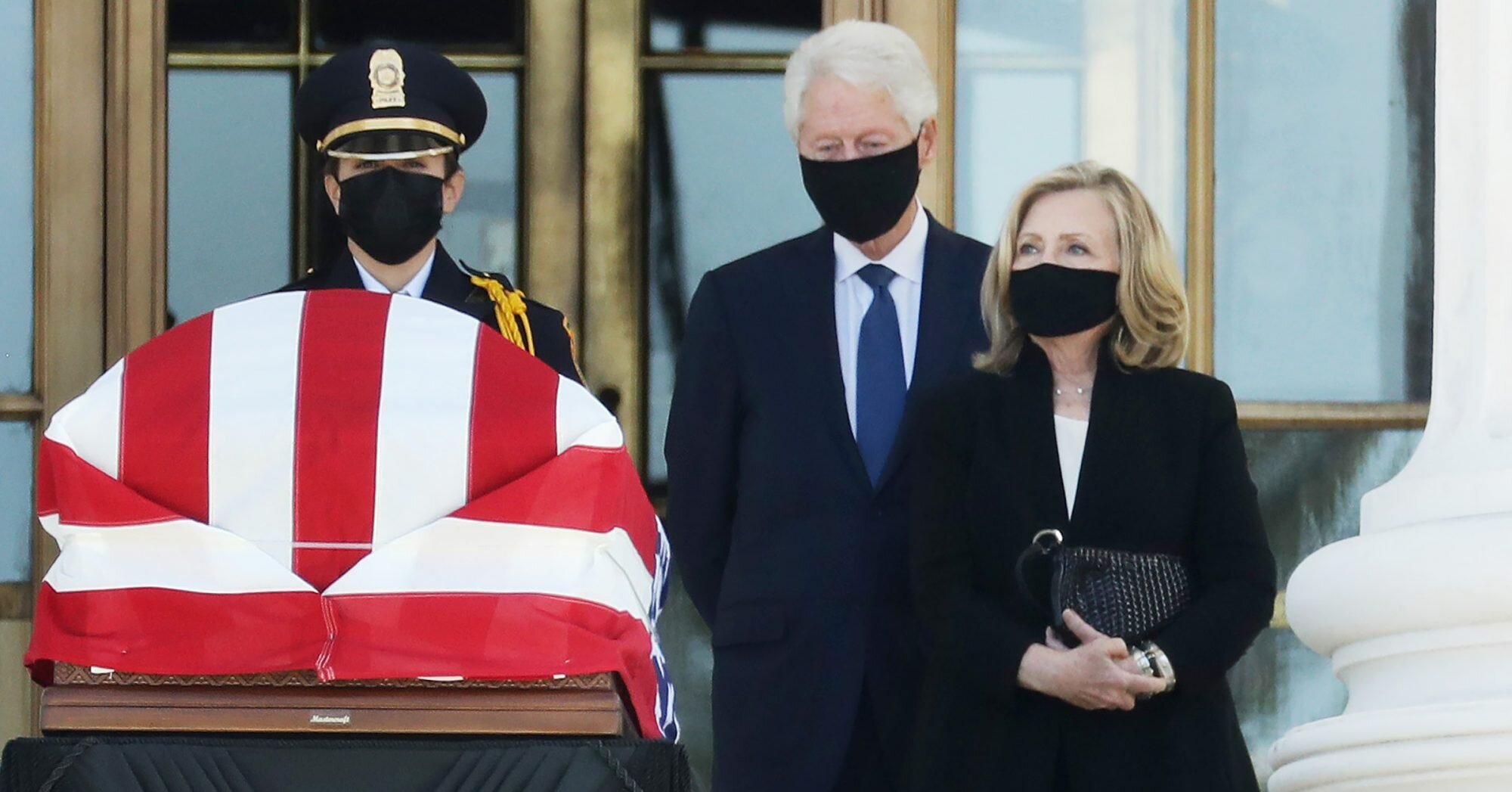 Bill & Hillary Clinton Join Mourners Honoring 'Trailblazer' Ruth Bader Ginsburg at Supreme Court