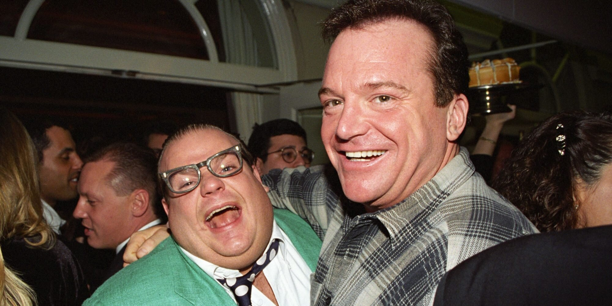 Tom Arnold says Chris Farley dancing naked on stage got his bachelor party ejected from strip club.jpg