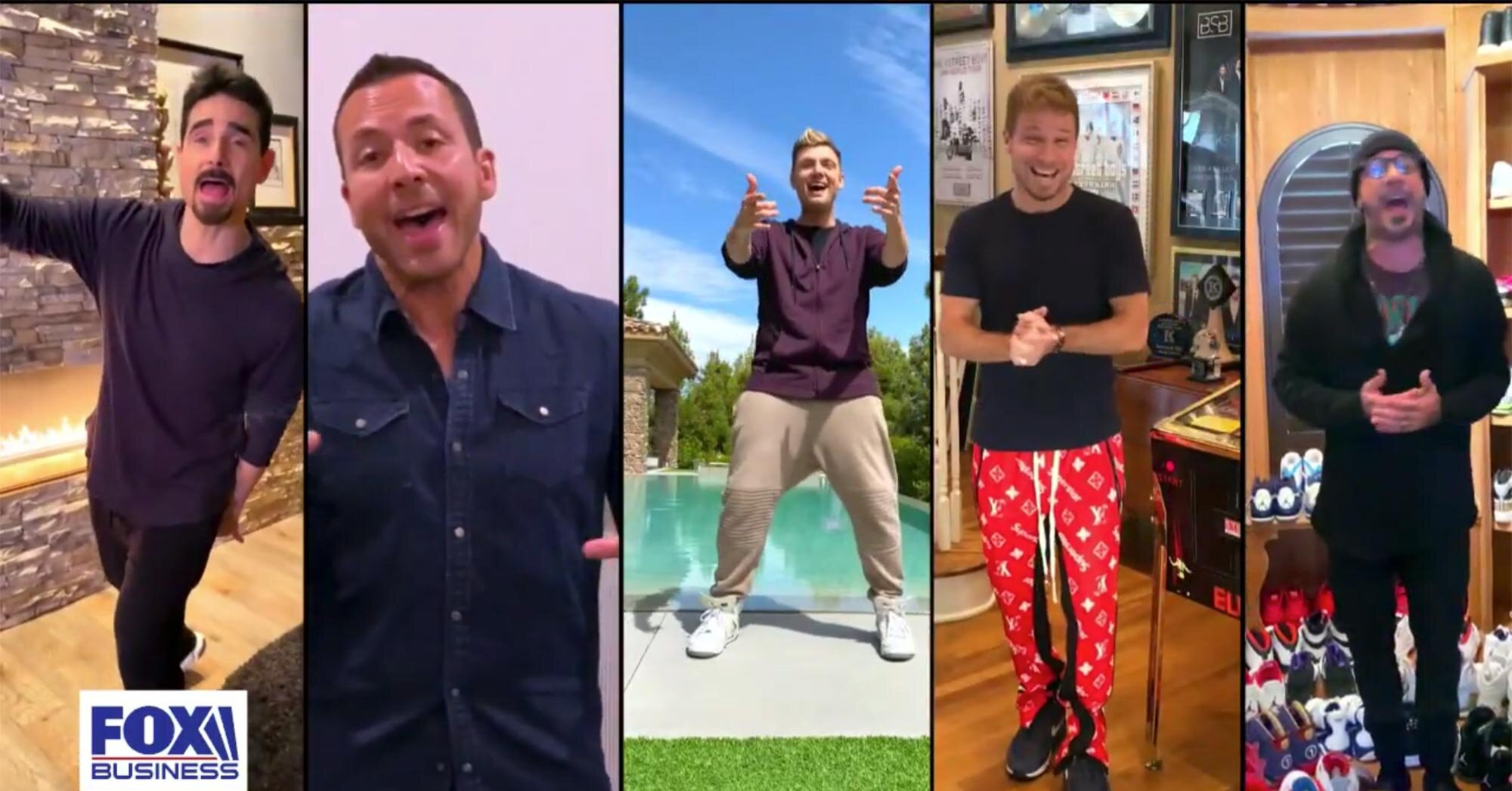 Backstreet Boys reunite via video to perform 'I Want It That Way' from 5 different locations