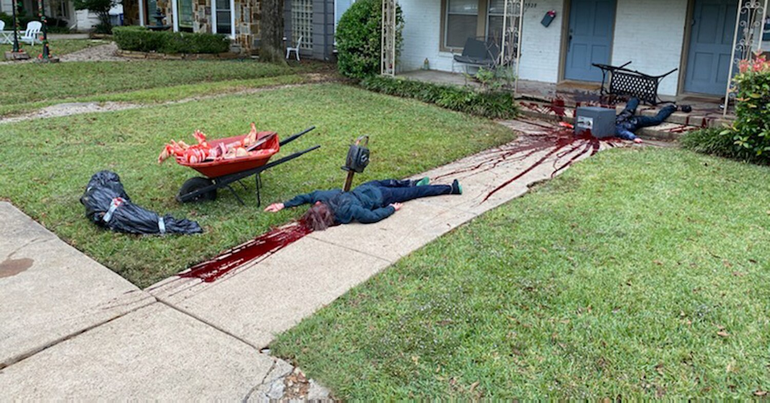 Police Called to Dallas Home After Man's Bloody Halloween Display Frightens Neighbors