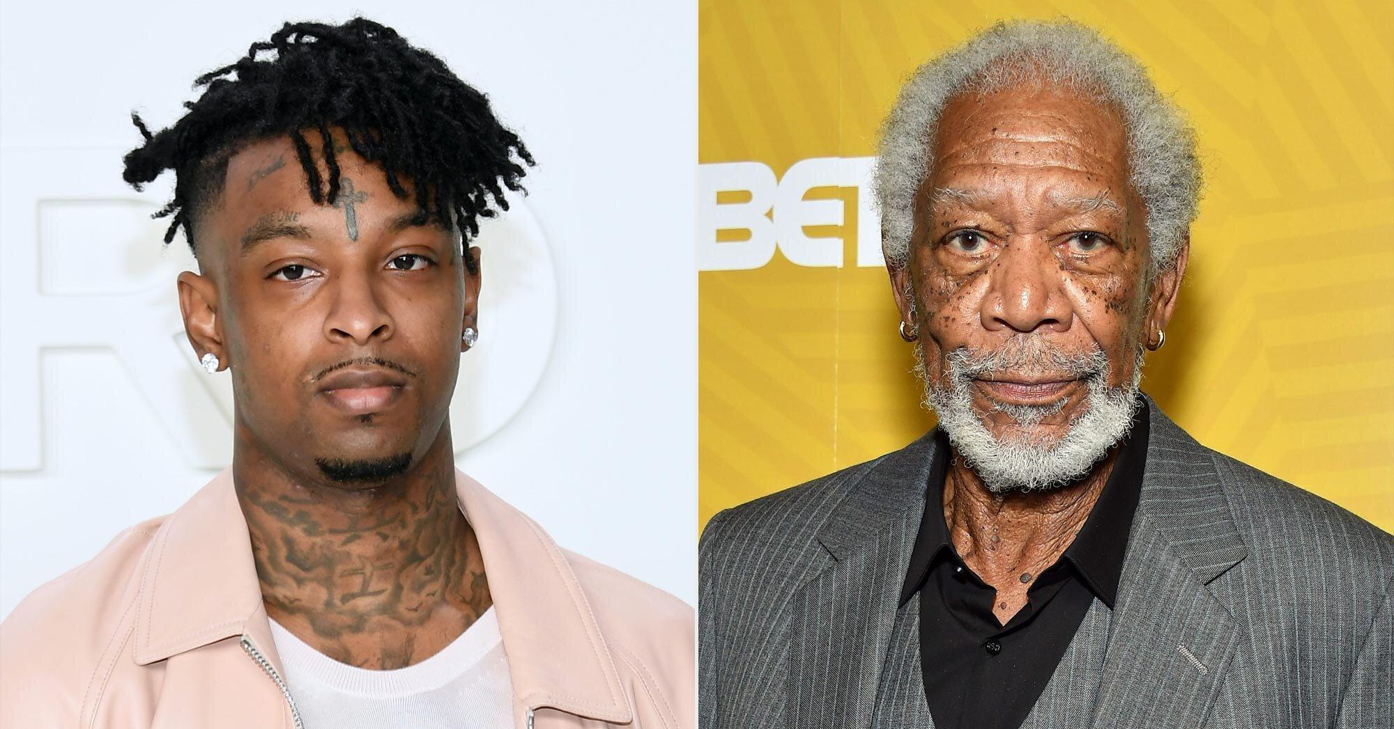 Morgan Freeman Narrates Trailer For Upcoming 21 Savage Album Ew Com