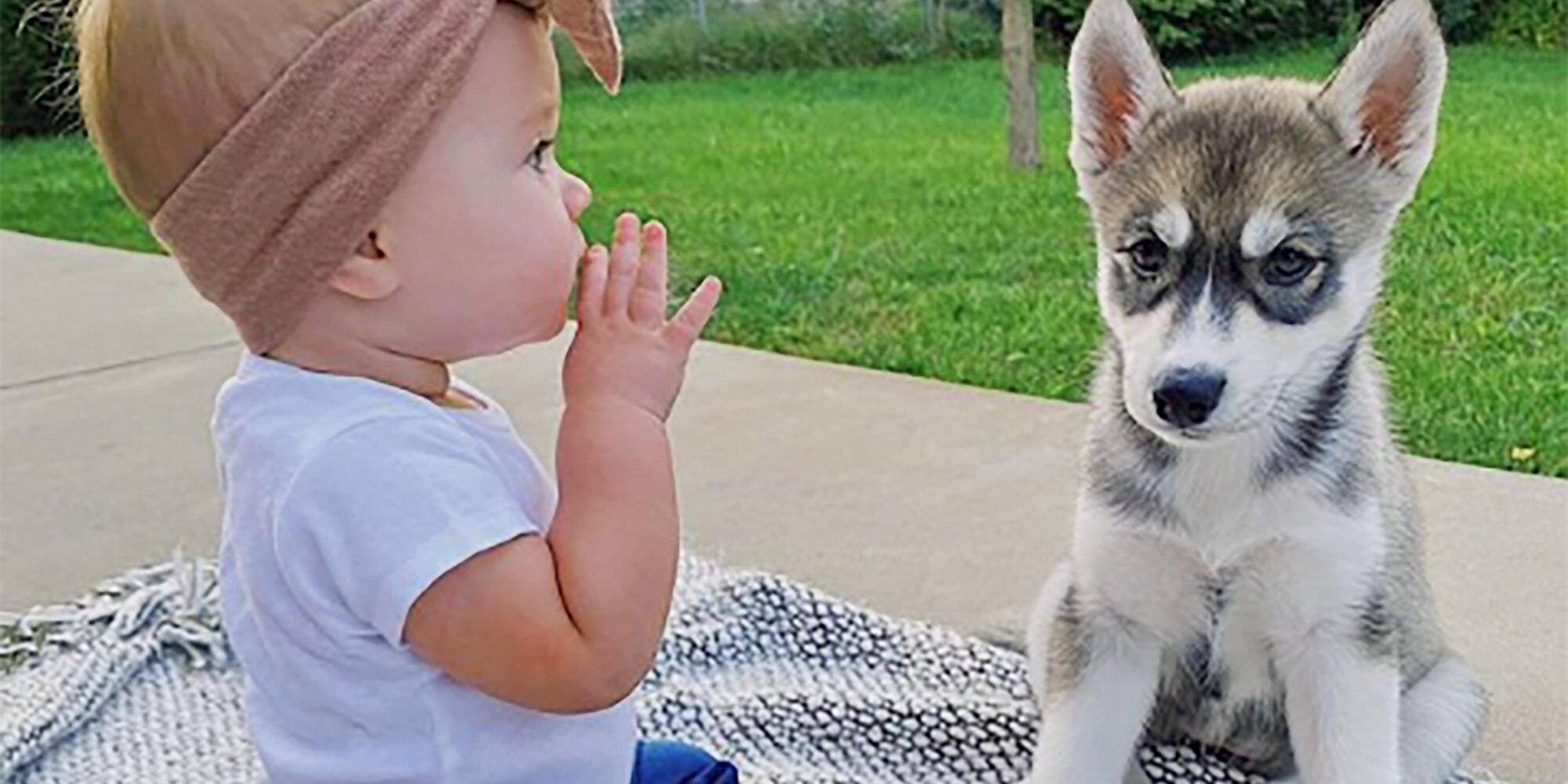 This Adorable Baby and Her Husky Puppy Are the Cutest Thing We've Ever Seen