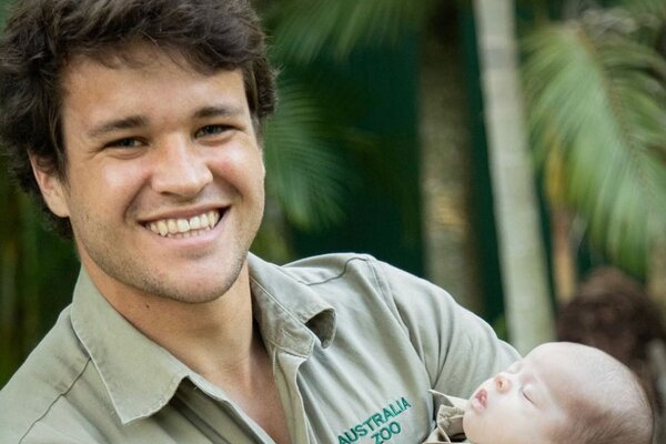 Chandler Powell and baby
