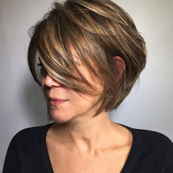 32 Layered Bob For Fine Hair Over 70