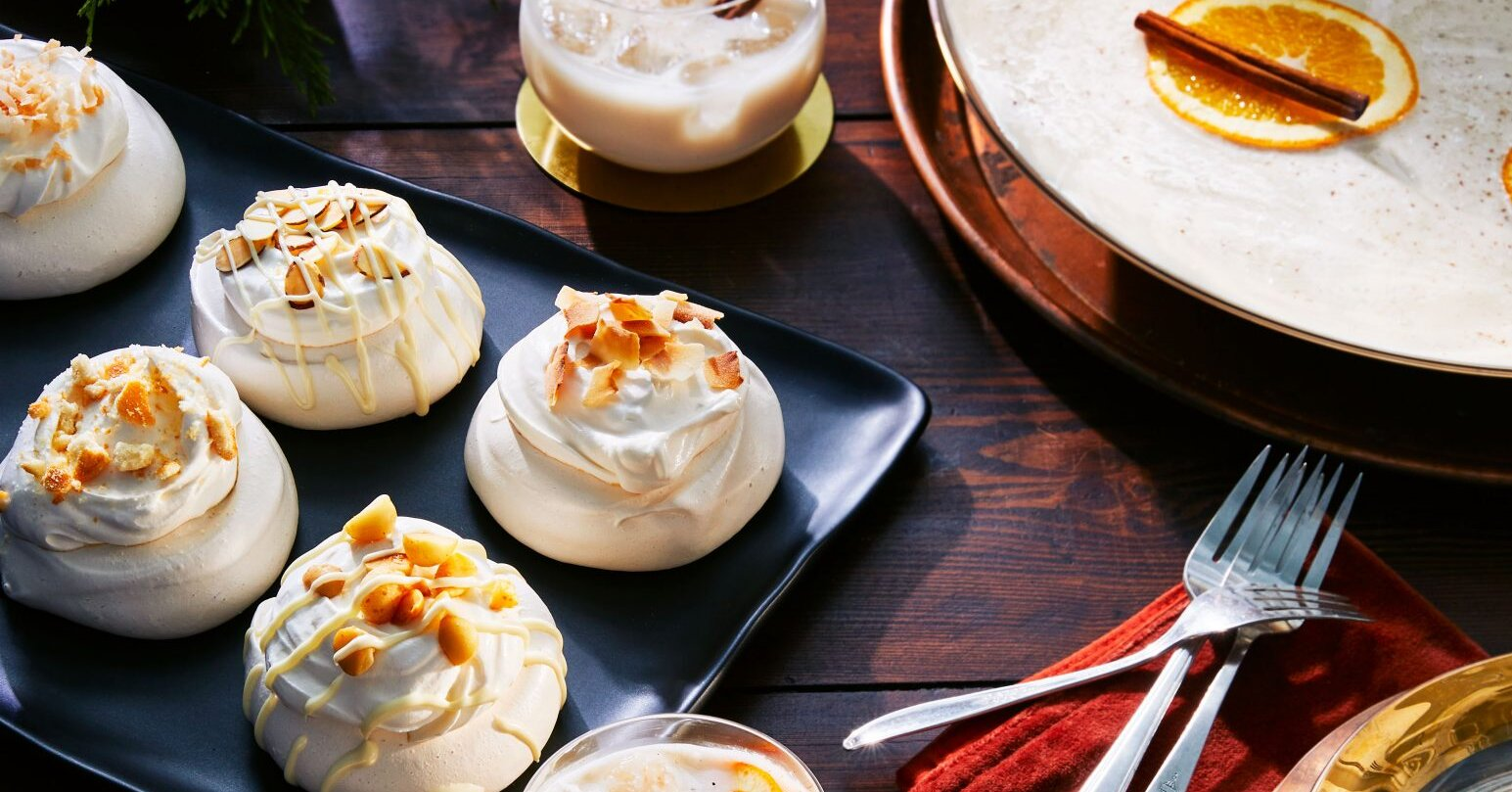 White Christmas Pavlovas