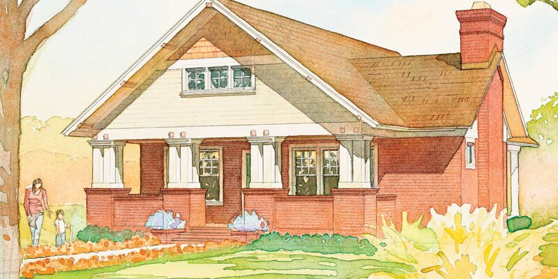 There's Nothing More Charming Than a One-Story Craftsman and These House Plans Prove It