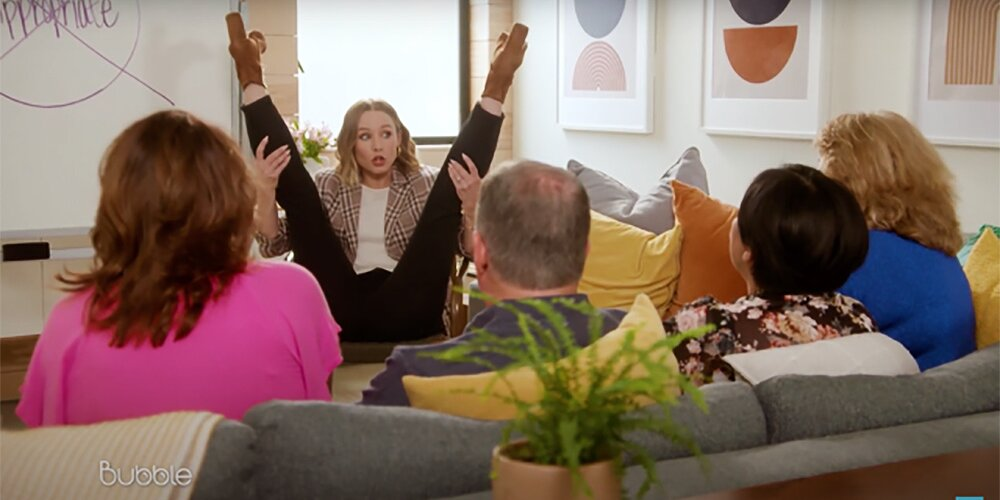 Watch Kristen Bell Demonstrate the 'Many' Modern Birthing Positions with Soon-to-Be Grandparents.jpg